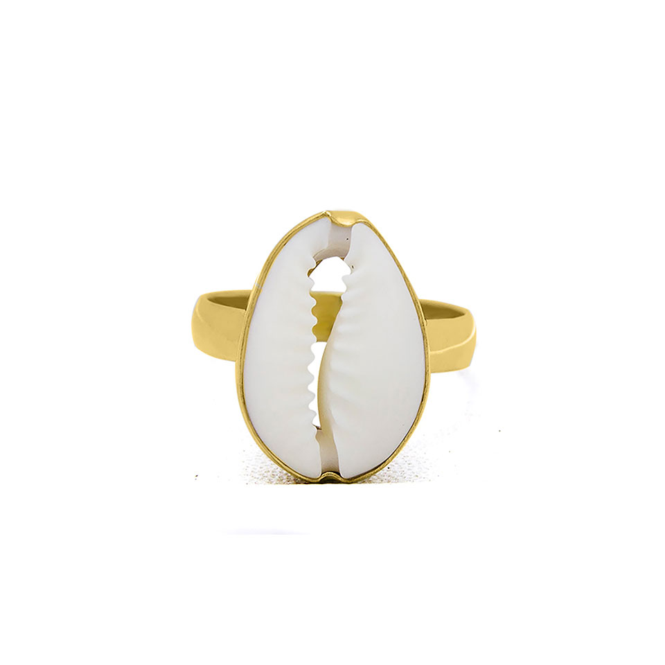 Kerang gold plated on sterling silver ring handmade by Fomo bali
