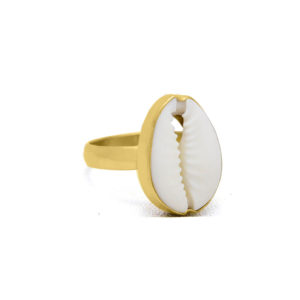 Side of Kerang gold plated on sterling silver ring handmade by Fomo bali