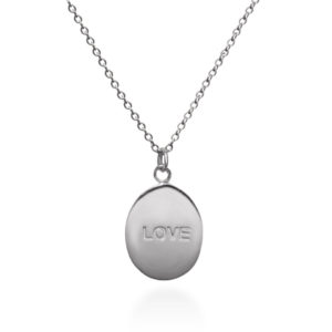 Back side of Rose love sterling silver necklace by Fomo bali