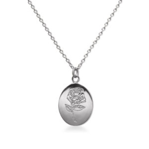 Rose love sterling silver necklace by Fomo bali