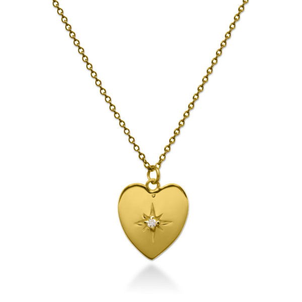 Love star gold plated on sterling silver necklace handmade by Fomo bali