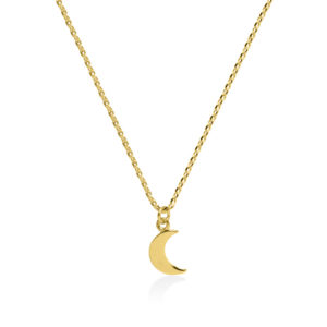 Moon gold plated on sterling silver necklace handmade by Fomo bali