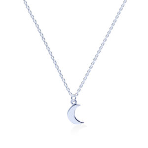 Moon sterling silver necklace handmade by Fomo bali