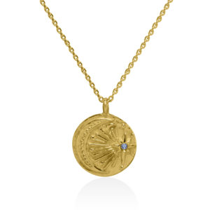 SSM Sun Star Moon gold plated on sterling silver necklace handmade by Fomo bali