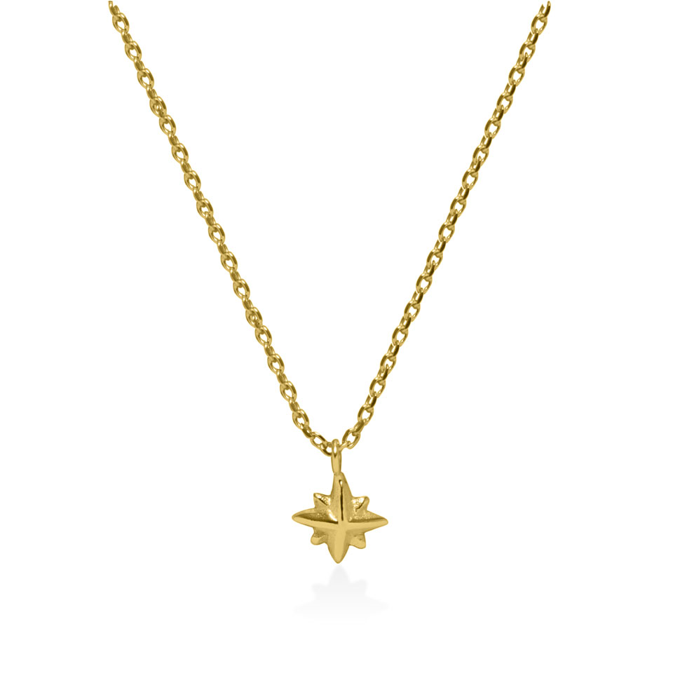 Star gold plated on sterling silver necklace handmade by Fomo bali