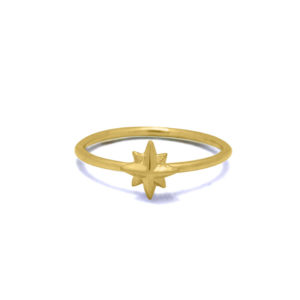 Star gold plated on sterling silver ring handmade by Fomo bali