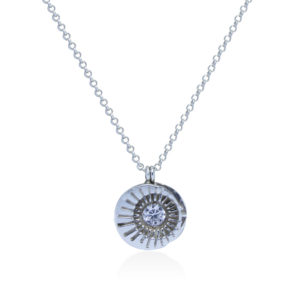 Sun Moon sterling silver necklace by Fomo bali