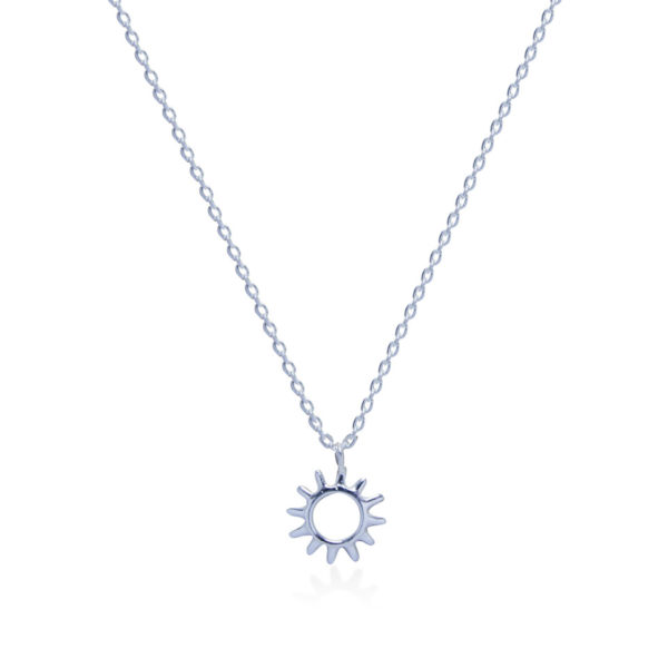 Sun sterling silver necklace handmade by Fomo bali